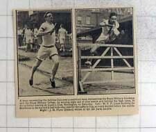 1925 Atletica LEGGERA MEETING Queens Club, MF Lloyd, Sandhurst JH Flynn ostacoli