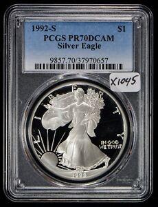 1992-S American Silver Eagle Proof PCGS PR70 DCAM