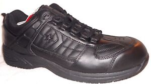 Image is loading New-CONVERSE-Sure-Grip-Athletic-Black-Leather-Oxfords- 4fa123b46