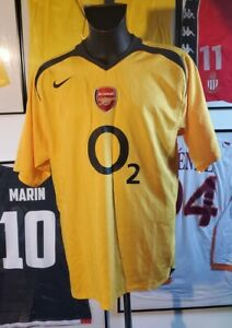 Maillot jersey shirt maglia trikot arsenal 2005 2006 Henry ljungberg 05/06 XL o2