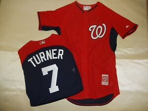 super popular 26742 747a4 Details about 9813 MAJESTIC Washington Nationals TREA TURNER Authentic  Baseball JERSEY New