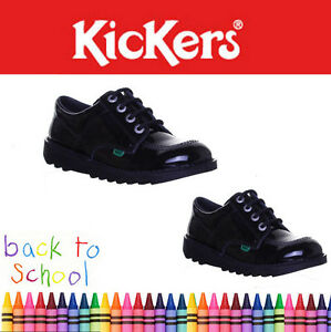 Kickers-Kick-Low-Youth-Girls-Patent-Back-to-School-Shoes-Uk-Size-3-4-5-6