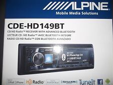 ALPINE CDE-HD149BT AM/FM RECEIVER CD MP3 BLUETOOTH & HD RADIO TUNER