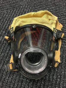 Scott-AV-2000-Firefighter-Facepiece-SCBA-CBRN-NBC-Size-LARGE-Good