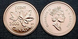 Canada-2000-Proof-Like-Gem-UNC-Small-Cent-Penny