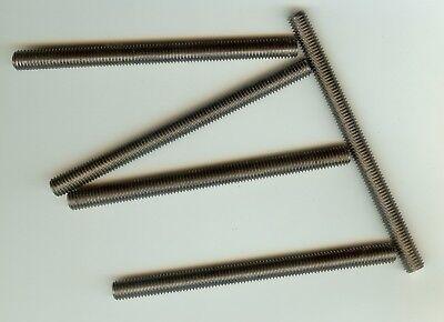 5 Stück Gewindestifte M8 x 109 mm Gewindestab Gewindestift Gewindebolzen V2A