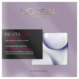 L'Oreal Paris 5x Revitalift Filler Mask Re-Plumping Hyaluronic Acid 35g