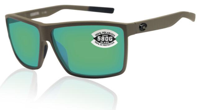 Costa Del Mar Rinconcito Matte Black Gray Silver Mirror 580 Glass Polarized Lens