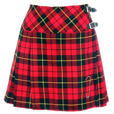 Hart Arbeitend New Ladies Wallace Tartan Scottish Mini Billie Kilt Mod Skirt Sizes 6-22uk