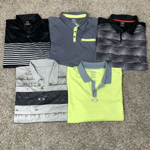 Lot Of 5 Men's Golf Polo Shirts XXL Oakley Athleti