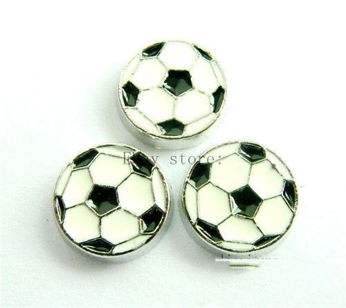 10PCS football Floating Charms Fits For Glass Living Memory Locket  alloy FC159