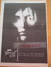 """This Mortal Coil Filigree & Shadow 1986 UK Poster size Press ADVERT 16x12"""""""