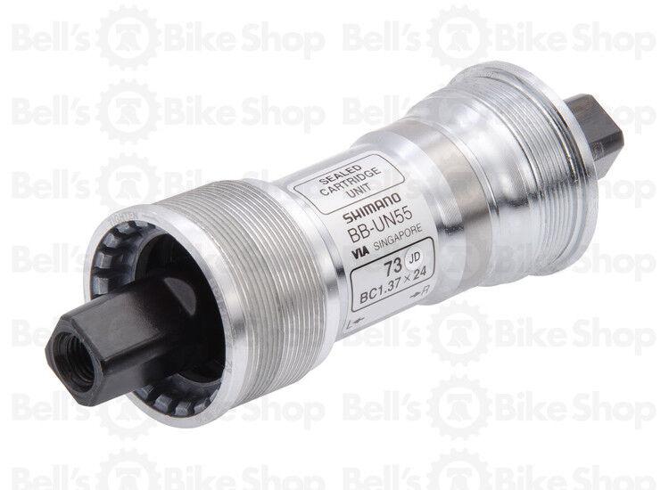 Shimano Bb-Un55 Caja Del Pedalier Jis Plaza Taper 73mm X 107mm Inglés   BSA