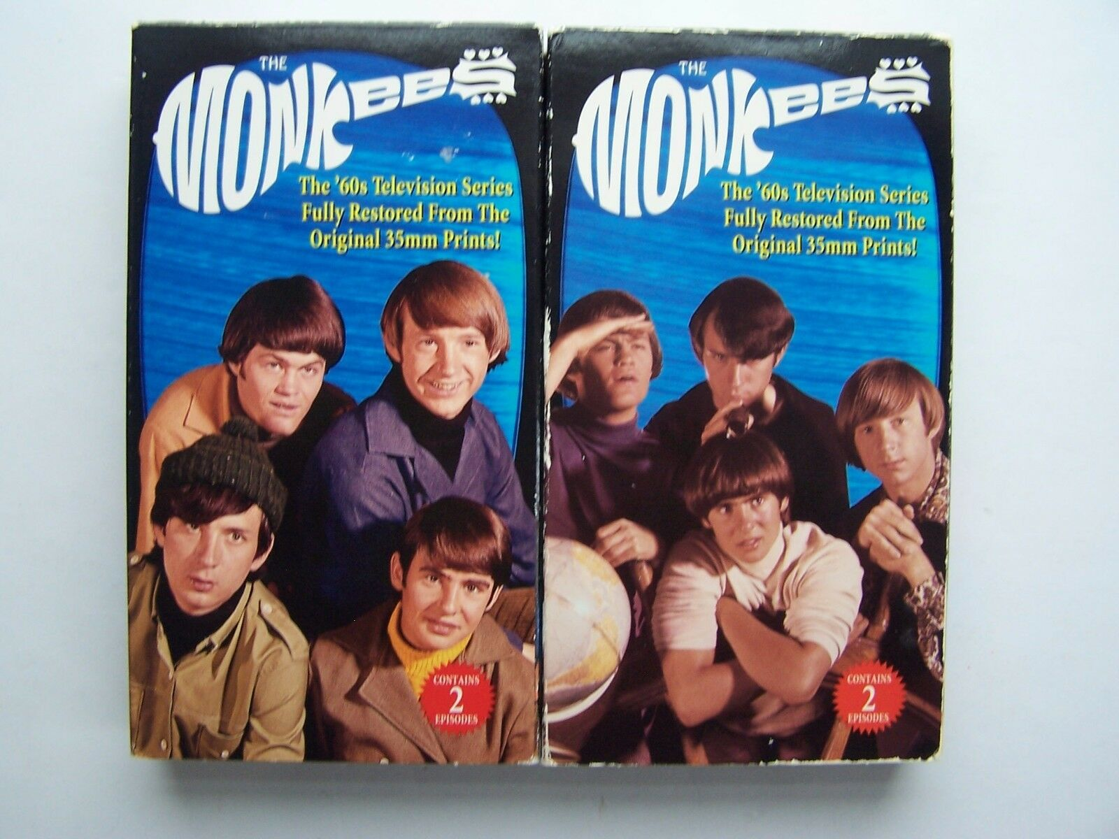 The Monkees 4-Episode VHS Video Tape Lot 81227223533