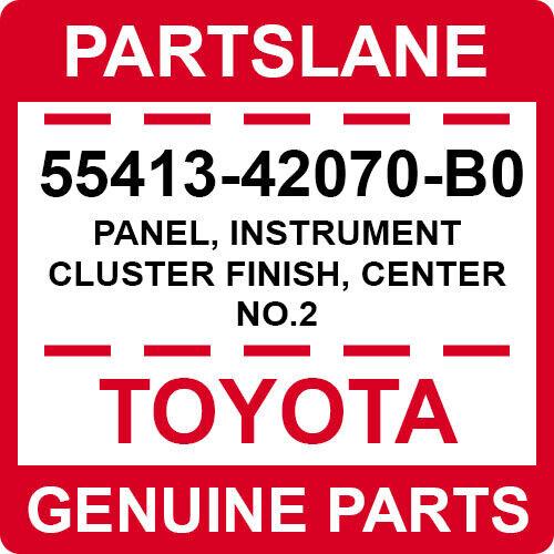 Toyota Rav4 06-12 OEM Center Instrument Cluster Finish Panel Trim 55413-42070-B0