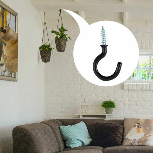 50pcs Cup Ceiling Hooks Metal Home Vinyl Coated Screws in Hanger Holder