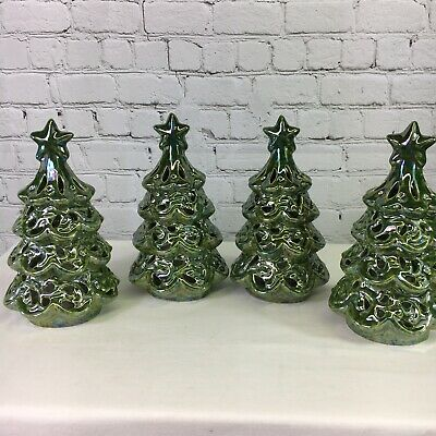 Qvc Christmas Trees.Set Of 4 9 Pearlescent Trees Valerie Parr Hill Qvc Christmas Ebay