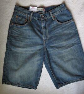Levi's Men's 569 Loose Straight-Fit Solar Denim Shorts - Size W30 - NWT