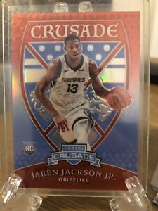 JAREN-JACKSON-JR-CHRONICLES-CRUSADE-RED-PRIZM-SP-Rookie-Card-Grizzlies-RC