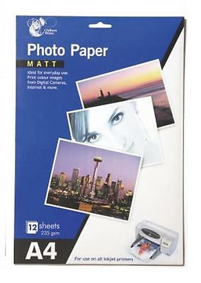 A4 Matt Finish Photo Paper 12 Sheets 235 gsm Printer Inkjet Photo Paper