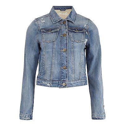 Blend She Damen Jacke Jeansjacke Jeans Damenjacke Used Waschung Destoyed-Effekte