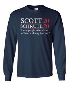 d0ad4586 457 Scott Schrute 2020 Long Sleeve Shirt election dwight michael ...