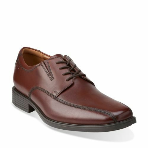 NEW CLARKS COLLECTION TILDEN WALK BROWN LEATHER LACE UP DRESS SHOES 10311 Scarpe classiche da uomo