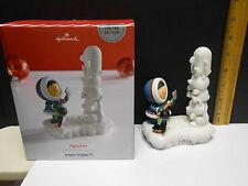 Hallmark 2016 Frosty Friends Limited Edition Porcelain Figurine Totem Pole NIB