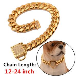 24-PET-Cadena-Collar-Punk-Oro-Cachorro-Perro-Gato-Collar-Cuello-Ancho-Ajustable-Str