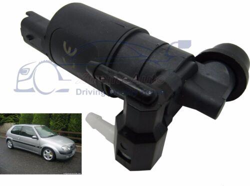 Front /& Rear Windscreen Washer Pump Citroen Saxo Phase 2 3//5Door 2000/>