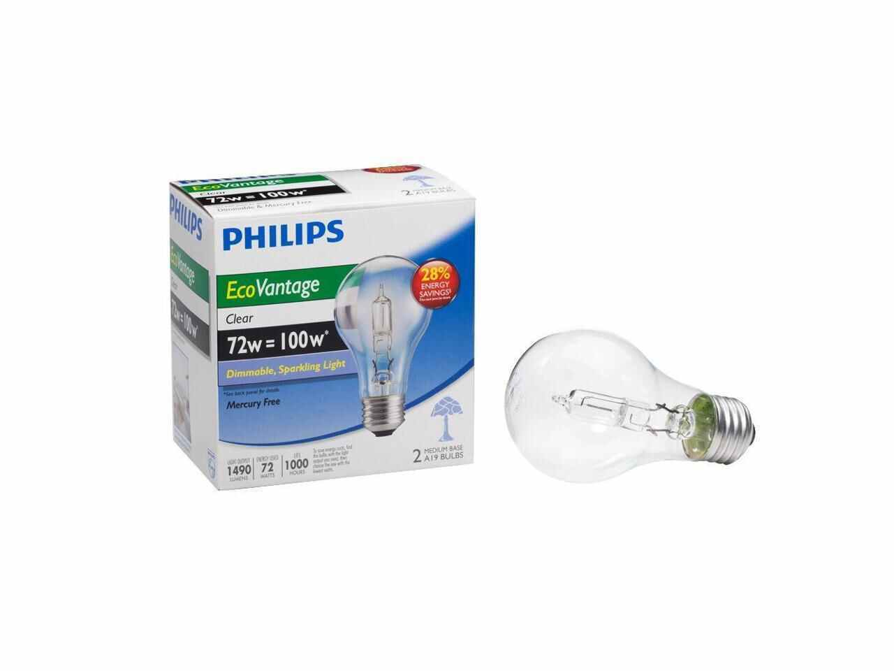 Eco-Vantage 72W Halogen Light Bulb in Clear