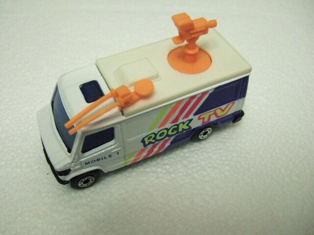 Matchbox rare preproduction mb68 mercedes TV News Truck   Falda TV  bianca Roof