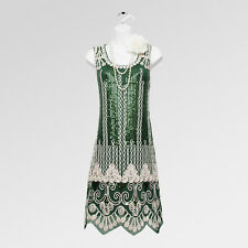 Item 1 New 1920s Gatsby Vintage Fler Charleston Green Sequin Party Dress Uk 14 16