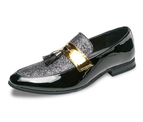 New Mens Formal Business Dress Shoes Sequins Tassels Comfort Leather Shoes SZ