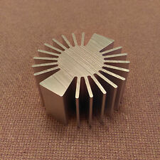 2 inch diameter Heat Sink Aluminum. ROUND. (2.0 x 1.0). Low Thermal Resistance.