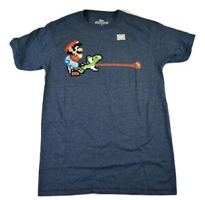 Super-Mario-World-Nintendo-Mens-Mario-amp-Yoshi-Shirt-New-S-M-L-XL-2XL
