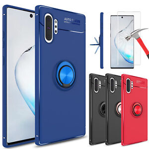 For-Samsung-Galaxy-Note-10-Plus-5G-S10-S9-Case-With-Ring-Holder-Screen-Protector