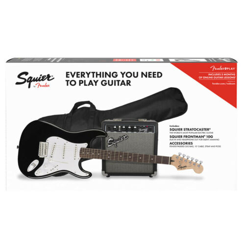 Fender Squier Stratocaster Pack NEW Black