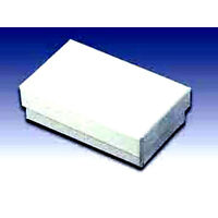 100 White Cotton Filled Jewelry Gift Boxes 3x2