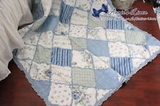 Annie Blue Patchwork Sofa/Chair/Bed Throw/Blanket made with Laura Ashley Fabric