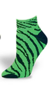 Pizzazz 8090AP Neon Orange And Black Large Zebra Striped Knee High Socks