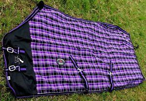 Horse Cotton Sheet Blanket Rug Summer Spring Purple 5330