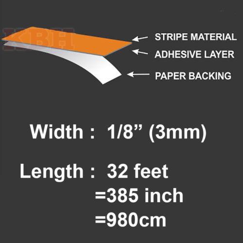 "1//8/"" Vinyl Pinstriping Pin Stripe Soild Line Tape Decal Sticker 3mm HOT PINK"
