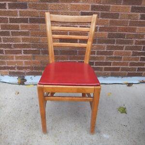 Image Is Loading Vintage Buckstaff Wood Ladder Back Chair Padded