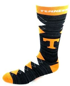 Tennessee-Volunteers-NCAA-Black-RMC-Orange-White-Fan-Nation-Crew-Socks