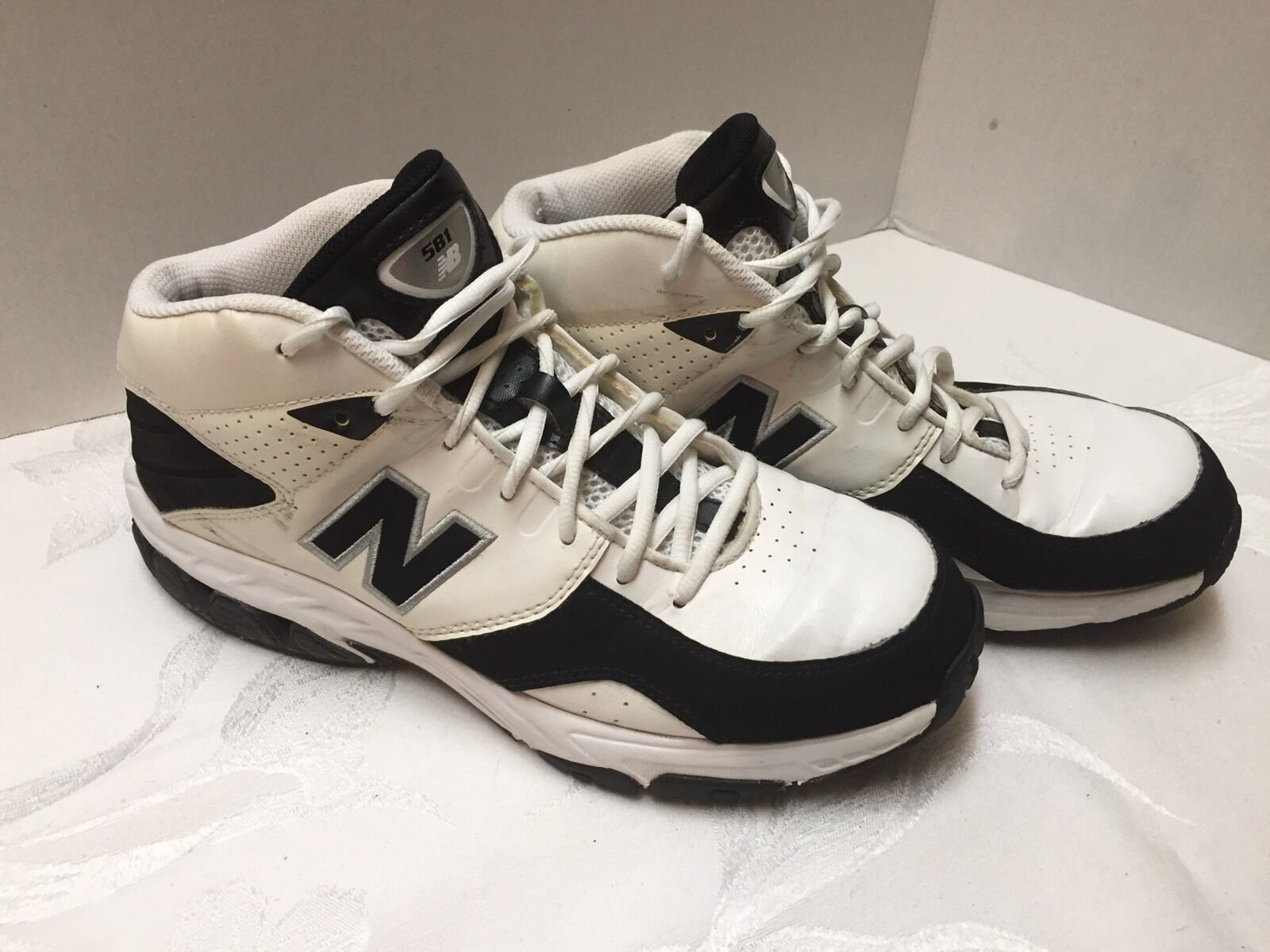 New Balance 581 Men's Basketball shoes Size 8 BB581WB Excellent LOOK
