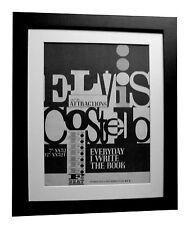 ELVIS COSTELLO+Everyday Write+POSTER+AD+ORIGINAL 1983+FRAMED+EXPRESS GLOBAL SHIP
