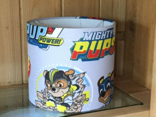 New Handmade Paw Patrol Mighty Pups plafond//Table Abat-jour diamètre 30 cm