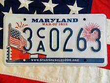 MARYLAND license licence plate plates USA NUMBER AMERICAN REGISTRATION