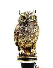 JAY STRONGWATER HECTOR OWL WINE STOPPER & STAND SWAROVSKI NEW ORIGINAL BOX